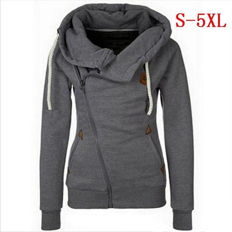 Plus Size 5XL Hoodies Sweatshirts Women Long Sleeve Hoodies Jackets Zipper Jumper Overcoat Outwear Harajuku Female Sweatshirts