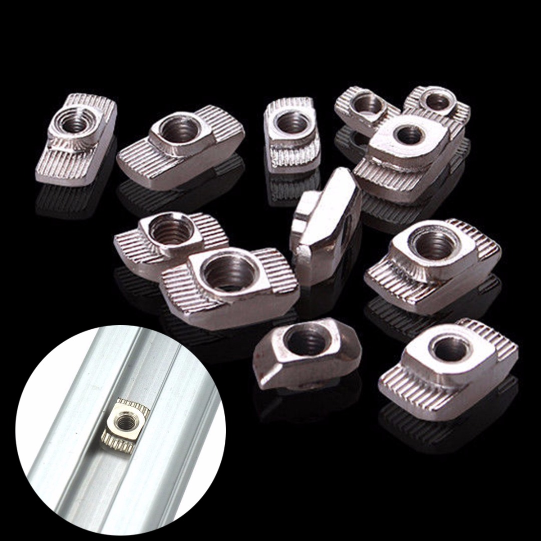 10pcs M4/M5 T-Slot Shape Interior Sliding Nut Block 20x20 EU Aluminum Profile Carbon steel For DIY CNC 3D Printer конвектор polaris pch 1575wr