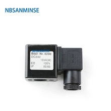 цена на Pneumatic Control Air Electrical Solenoid Valve Coil DC12V DC24V AC110V AC220V For Pulse Valve Series DIN43650A Sanmin