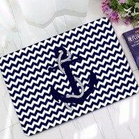 40 cm x 60 cm 3d gedrukt marine spear deur carpet flanel antislipmatten oceaan blauw matten voor vloer badkamer tapijten rechthoek matten
