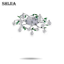 Free shipping Cheapest Fashion Crystal chandelier modern For Living-Room Bedroom Wholesale & Retail D60* H15cm ,6ribs