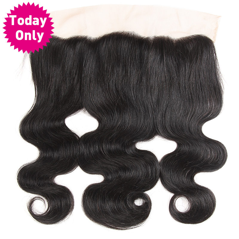TODAY ONLY Brazilian Body Wave Bundles 13x4 Ear to Ear Lace Frontal Closure With Baby