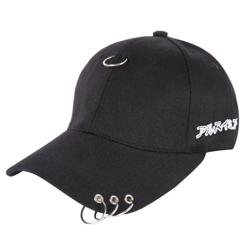Active Men Women Gd Same Style With A Ring Cap Clip Ring Embroidery Cotton Unisex Snapback Hip Hop Hat Running Cap New Customers First