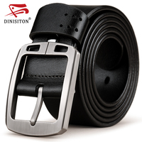 DINISITON Genuine Leather Belts For Men Brand Cowhide Adjustable Strap Male Pin Buckle Fashion Vintage Jeans