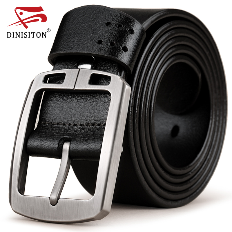 DINISITON genuine leather   belts   for men brand cowhide adjustable Strap male pin buckle fashion vintage jeans cintos RAS