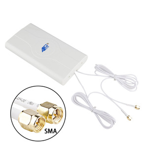Image 3 - Hot 2*SMA male/TS9/CRC9 Connector wIth 2M Cable 700~2600Mhz 88dBI 3G 4G LTE antenna MobIle antenna Booster mImo Panel Antenna