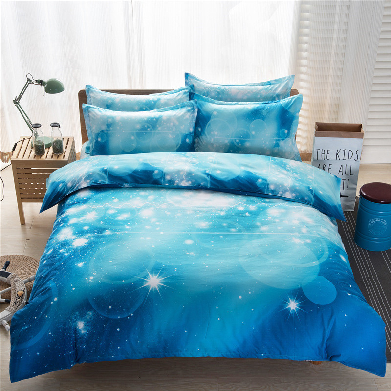 star clouds 3d bedding set duvetdoona cover bed sheet pillow cases 34pcs bedclothes queen twin xl bed