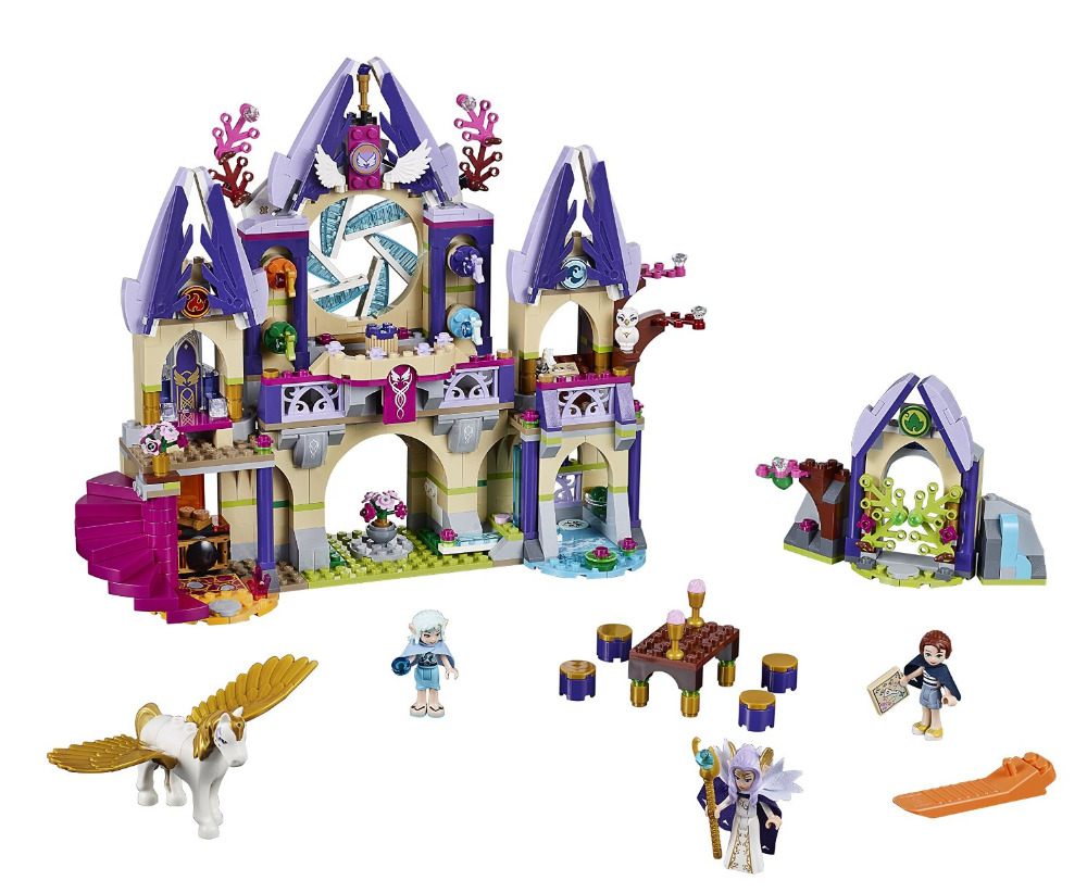 BELA Elves Skyra's Mysterious Sky Castle Building Blocks Kits Model Toys Marvel compatible with legoe ynynoo bela 10501 233pcs princess friend elves elvendale school of dragons model building kits blocks brick with 41173