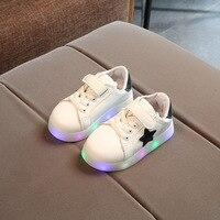 все цены на LED High quality infant tennis Spring/Autumn kids sneakers Hook&Loop Cool girls boys shoes hot sales children shoes footwear онлайн