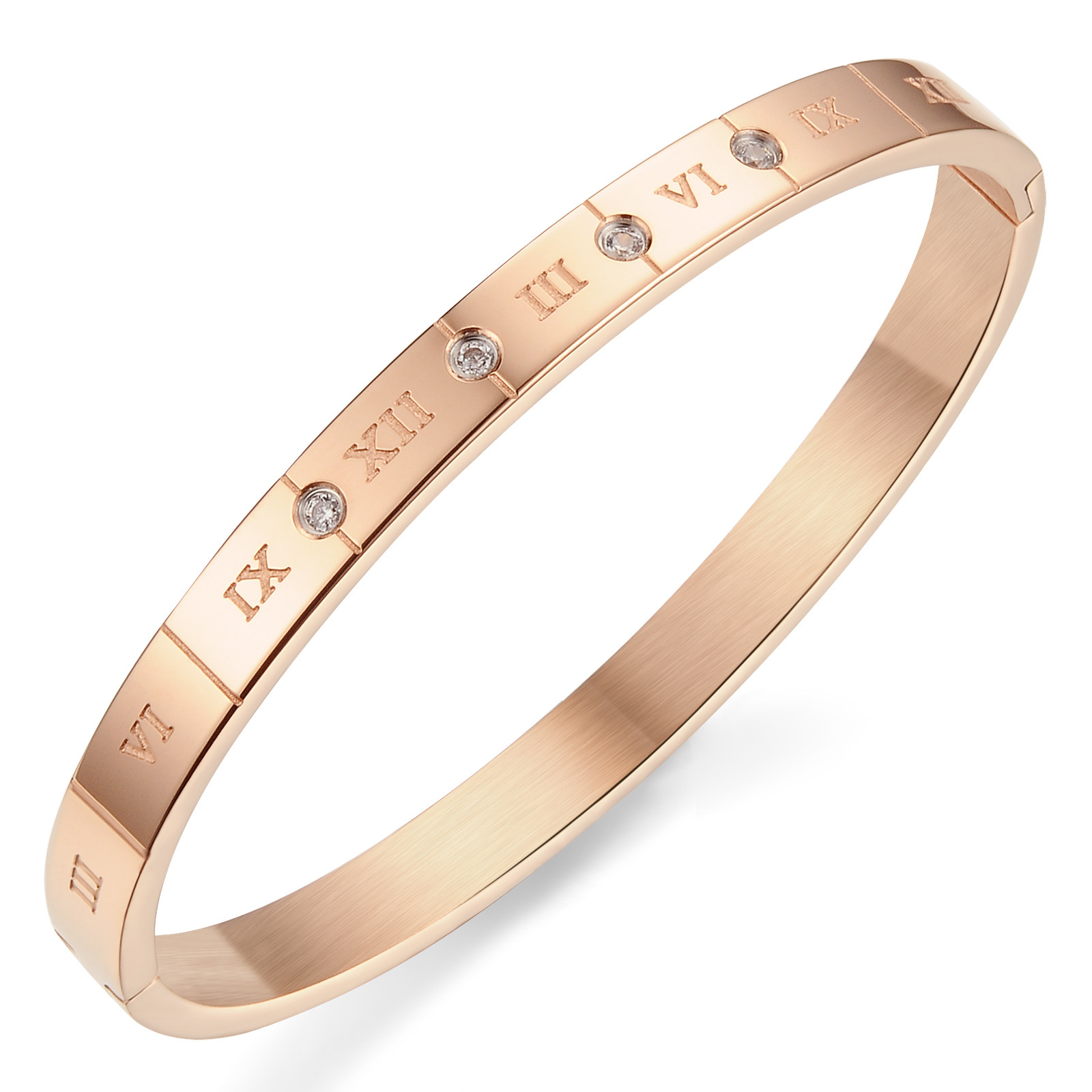 Bulgaria Jewelry Stainless Steel Bracelet Roman Numerals