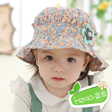 61bea773e US $1.14 28% OFF|Baby hat female summer sun sun hat 1 2 years old children  fisherman cap in the spring and autumn sun princess basin hat-in Hats & ...