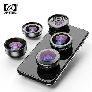 HD przenośny 5 w 1 aparat telefon soczewki 4 K szeroki makro teleskop super obiektyw typu rybie oko dla iPhone 8 Xs Max Samsung s9 XIAOMI telefon