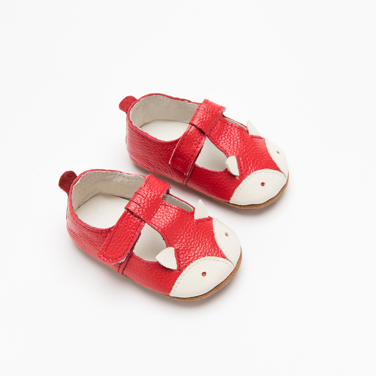Baby Girls T-Strap Sandals Ankle Wrap Faux Leather Prewalker Rubber Sole Shoes