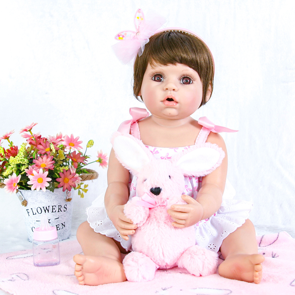 Collection Doll Full Body Silicone Reborn Baby Girl Doll Toys Washable Baby Alive Reborn Dolls for Girls Boys Birthday Gifts Toy