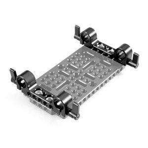 "Image 2 - SmallRig 경량 15mm railblock로드 클램프 1/4 "" 20 스레드 빨간색 및 기타 15mm DSLR 카메라 조작 2 Pcs   2061"