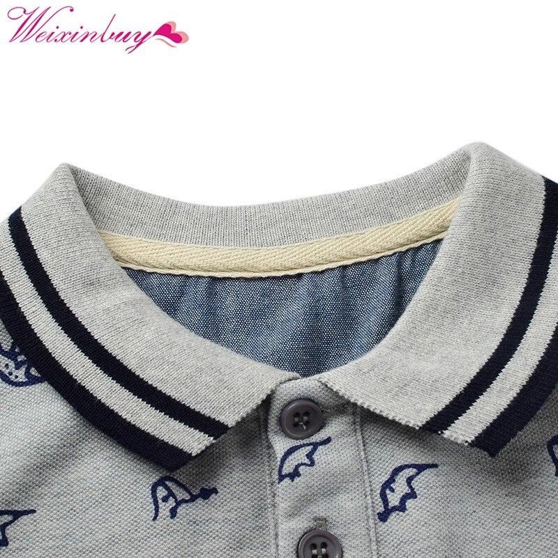 Summer Boys T-shirts Cotton Kids Tops Sports Tee Turn-down Collar Boys Polo Shirts 2-7Y Childrens Clothing