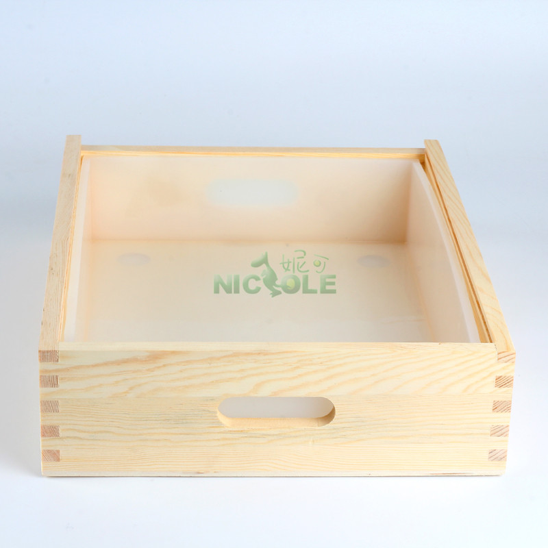 Nicole Silicone Liner Rectangle Mold With Wooden Box Loaf Soap