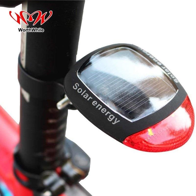 Lohnende Fahrrad Schwanz Licht Solar Energie Berg Hinten Lampe 2 LED Fahrrad Zubehör Sicherheit Nacht Radfahren MTB Straße Ausrüstung