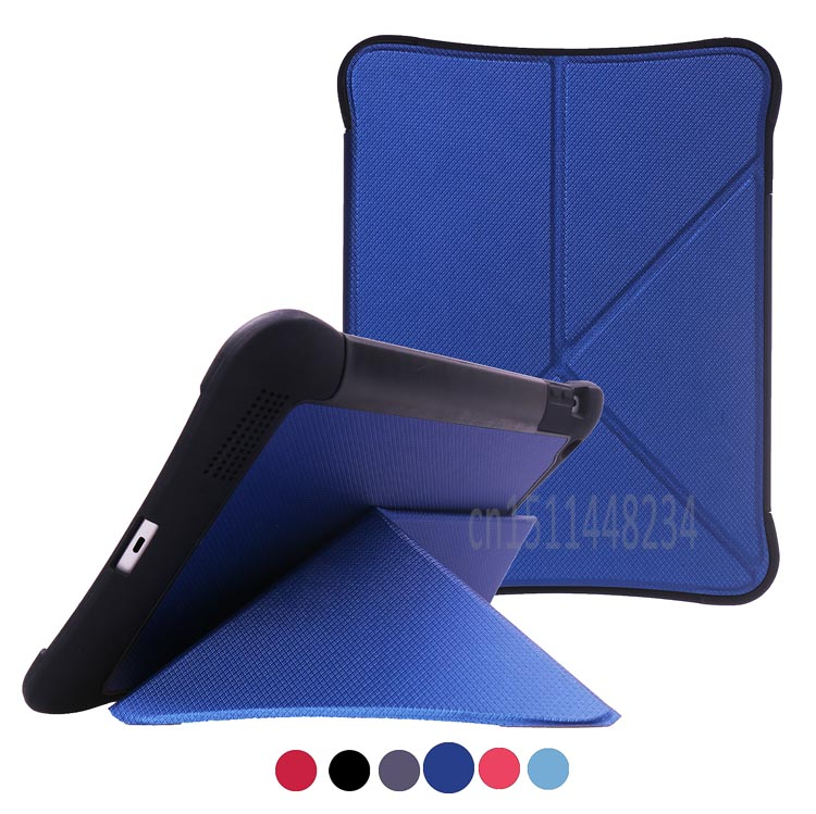 for iPad 2 3 4 9.7 case cover, New design deformation shockproof Tablet stand shell case black, blue, red, Magnets case