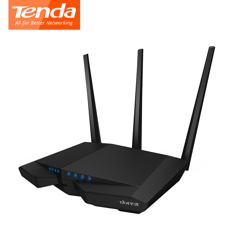 Tenda Wifi Router AC18  With USB 3.0 Smart Dual Band Gigabit 1900Mbps 2.4/5GHz 11AC Dual Broadcom CPU DDR3 Wi-Fi Repeater tenda ac15 1900mbps wireless dual band gigabit wifi router wifi repeater 1300mbps at 5ghz 600mbps at 2 4ghz usb 3 0 port ipv6