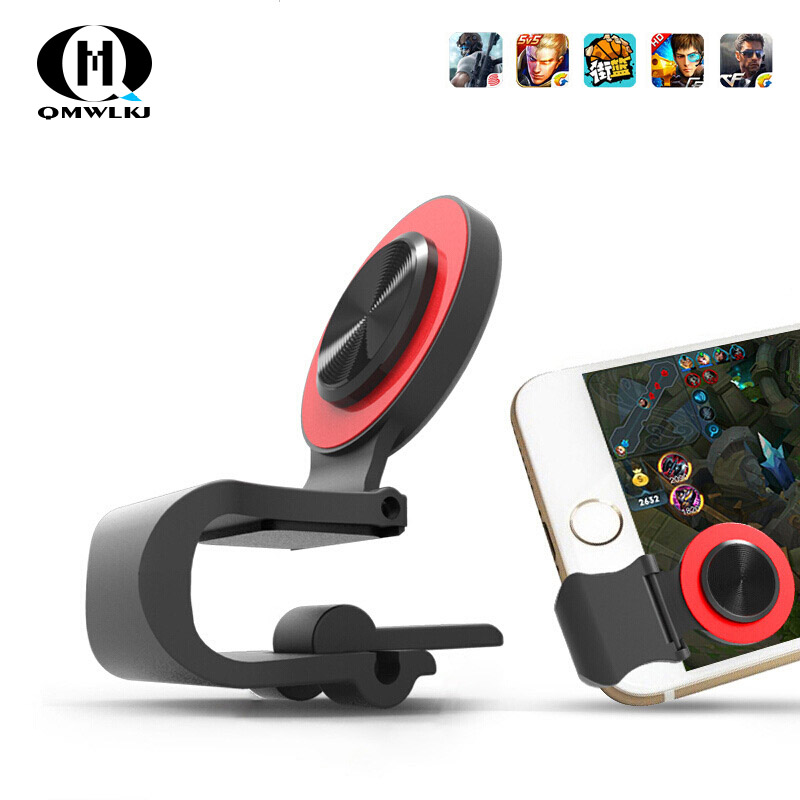 Round Suction Cup Mobile Phone Walking Artifact Game Joystick For Iphone Android Tablet Metal Button Controller A9-in Gamepads from Consumer Electronics