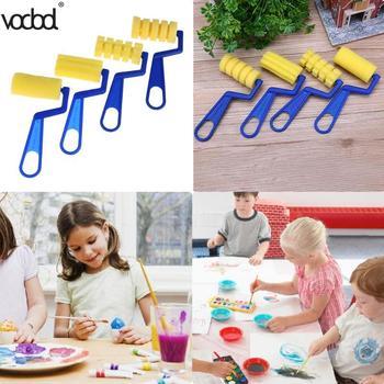 4Pcsset Sponge Paint Brush Handle Drawing Brushes for Children Kids Graffiti Art Drawing Painting Tool School Supplies HOT Sale line art