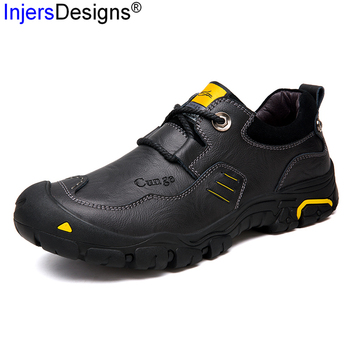 Plus Size 40-46 Shoes Men Business Zapatos De Hombre Soft Waterproof Outdoor Shoes Men High Quality Genuine Leather Casual Shoes