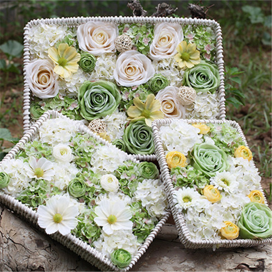 Roses flower wall artificial flowers for wedding decorative frame roses flower wall artificial flowers for wedding decorative frame silk peony arch hanging fake flower real touch rose home decor in artificial dried junglespirit Gallery
