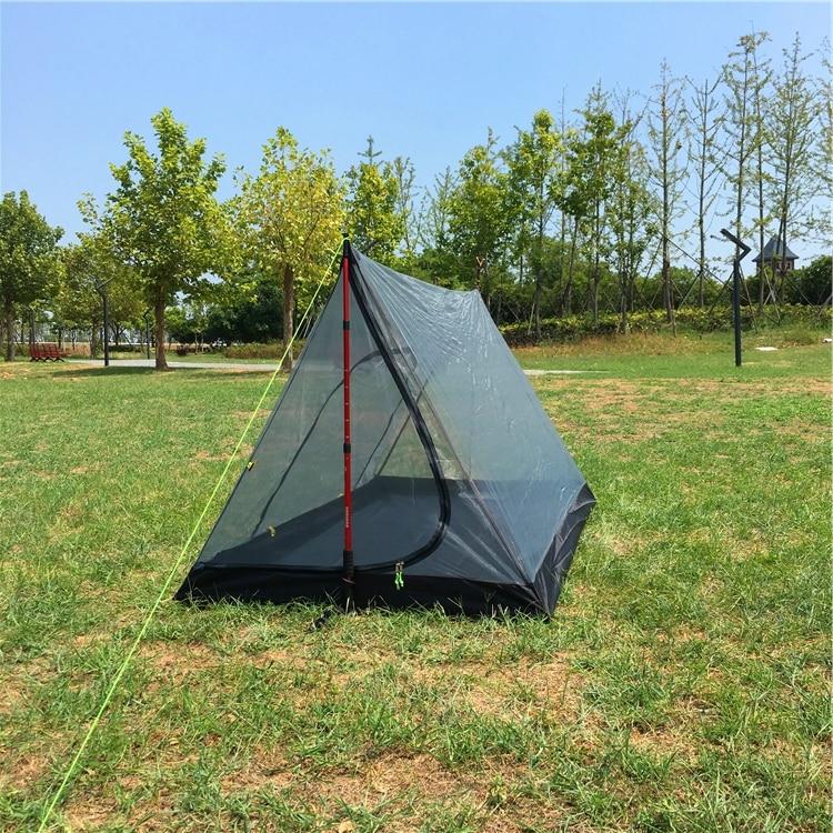 Heißer Verkauf Ultraleicht Pyramide Moskito net Zelt, Ultraleicht 2 Person Mesh Zelt Shelter, CZX-202 Pyramide Brise Zelt