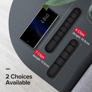 Image 5 - Ugreen Kabel Veranstalter Silikon USB Kabel Wickler Flexible Kabel Management Clips Für Maus Kopfhörer Kopfhörer Kabel Halter
