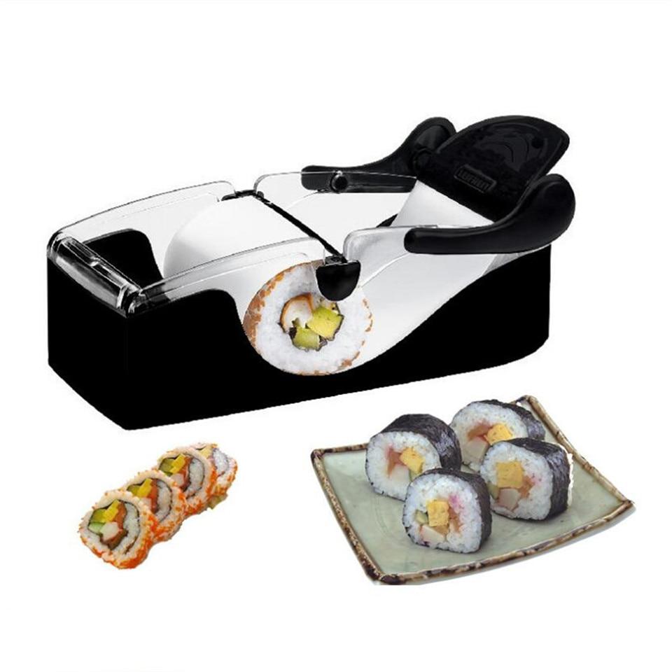 Sushi Roll Maker DIY Rice Roller Mold Perfect Cutter Easy Sushi Making Machine Sushi Roller Maker Kitchen Gadget