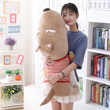 60/80/120 Cm Soft Duull Dog Plush Toy Plump Body Adorable Sleepy Cushion Stuffed Doll Pillow For Kids Or Lovers Gift