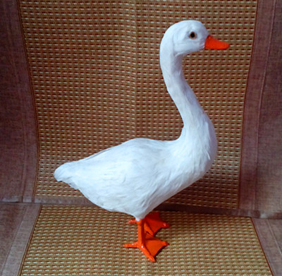 large 38x25x14 cm simulation goose Model toy, lifelike white goose model decoration gift t177 large 21x27 cm simulation sleeping cat model toy lifelike prone cat model home decoration gift t173