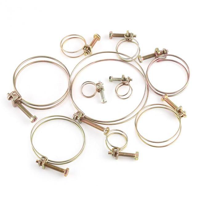 10pcs/set Double Wire Hose Clip Clamps 16mm 100mm Hose Clamp ...