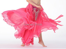 HOT SELLING BELLY DANCE EAR SKIRT SLIT IN BOTH SIDE 11 COLOR IN
