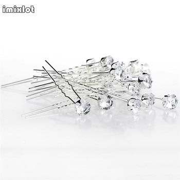 3d34281df1 Lots 20Pcs Round Crystal Rhinestone Hair Pins Clips Tiara Hairband Wedding  Bridal Bridesmaid Accessories Jewelry Wholesale $12.89