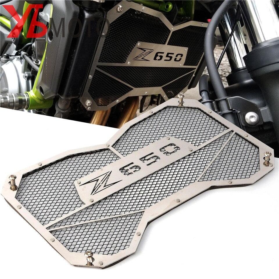 Haute qualité moto radiateur grille garde protection réservoir d'eau garde pour Kawasaki Z650 Z 650 2017 2018 accessoires