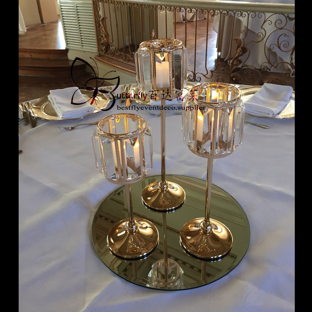 Crystal Hurricane Candle Holders And Candlesticks Around The Gold