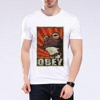 2017 Fashion Obey Frog T Shirt Cartoon Animals Summer O Neck T Shirt Casual Print Tops