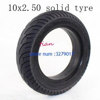 Envío Gratis, neumáticos sin cámara de rueda 10x2,50, neumático sólido inflado, neumático para Scooter Eléctrico, accesorio para Scooter Eléctrico de 8/10 pulgadas
