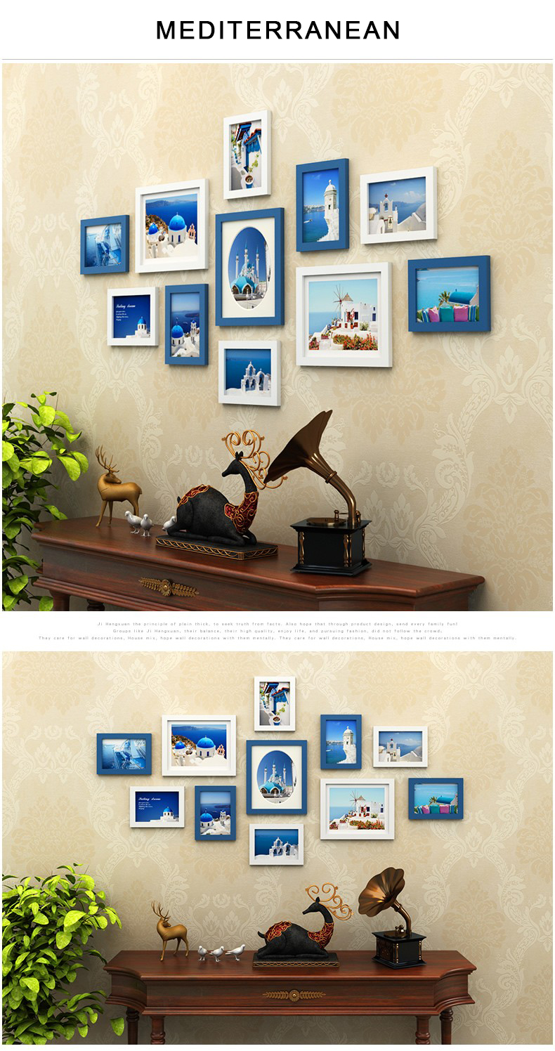 Classical 11pcsset black white frame for wall decorationwooden 11 pcsset black photo frames for picturenew wooden frames for wallwall collage photo frame whitesquare wooden picture frames jeuxipadfo Gallery