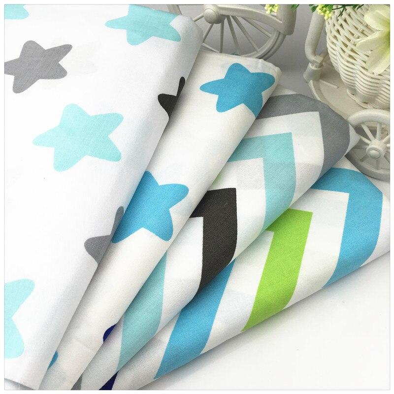 Estrellas Wave imprimir 40 * 50 cm 100% tela de algodón Telas Tecido Tessuti DIY