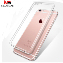 WUANGSUNE Ultrathin TPU Case For iPhone5 5S SE 6 6S 7 8 plus X Transparent Soft Clear Slim Jacket shell Brand phone cover case