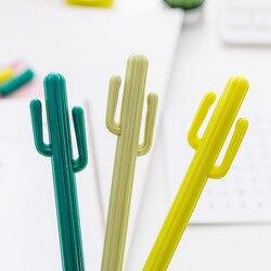 1 pçs caneta agulha 0.5mm coreia do sul papelaria personalidade criativa cacto caneta neutra estudante papelaria gel caneta