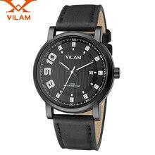 VILAM Relojes de Los Hombres de Moda casual de Cuero del Negocio del Reloj de Cuarzo reloj de Los Hombres de Primeras Marcas de Lujo Reloj Hombre nuevo de Cuarzo reloj