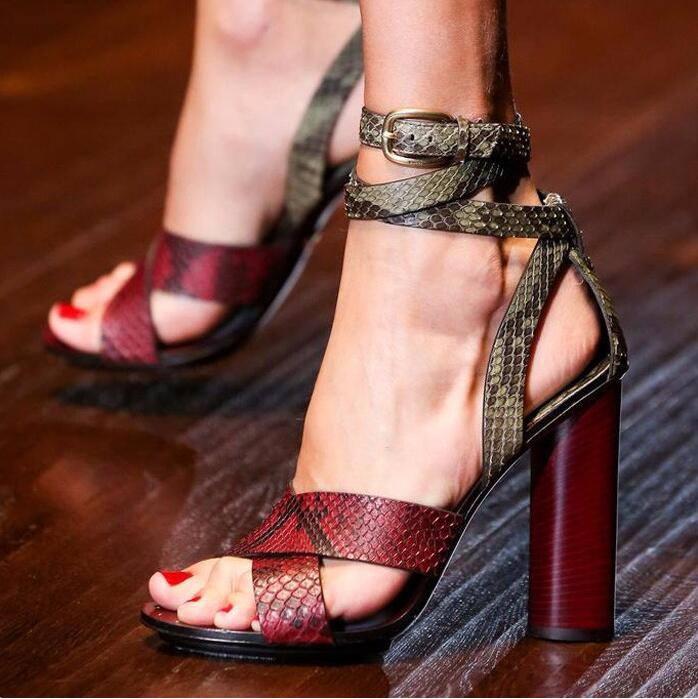 Real Photo Ankle Strap Wrapped Women Sandals Round High Heels Cross Strap Front OL Ladies Sandal Shoes New 2016 Sandal Shoes real photo black and nude patent leather women sandals stilettos high heels no ps ol ladies sandal shoes new 2016 sandal shoes