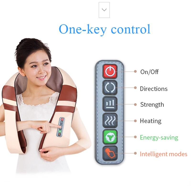 JinKaiRui U Forme Électrique Shiatsu Dos appareil de massage pour cou et épaules soin spa du corps Infrarouge 4D pétrissage Massagem Voiture/Usage Domestique - 3
