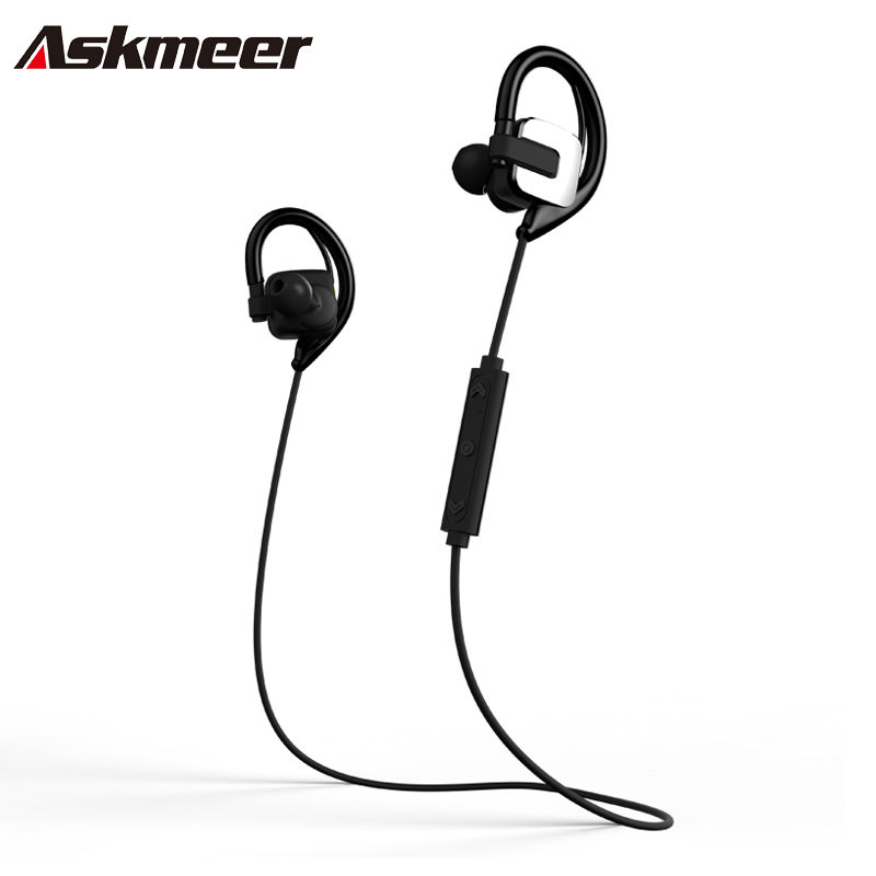 Askmeer Bd 129 Bluetooth 4 1 Wireless Headset Sport Sweatproof Earphone With Microphone For Iphone Android Phone Handfree Call Wireless Noise Cancelling Headset Headset Voipheadset Wireless For Pc Aliexpress