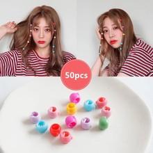 50pcs/Set Fashion Mini Hair Claws Clips Children Cute Candy Color Accessories for Women Girls Plastic Headwear