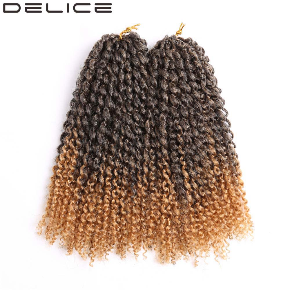 delice pulgadas unidspack crochet trenzas africanas trenzas de pelo sinttico largo rizado